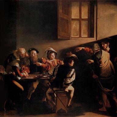 La vocacion de San Mateo, de Caravaggio, 1599